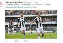 Il tweet della Gazzetta