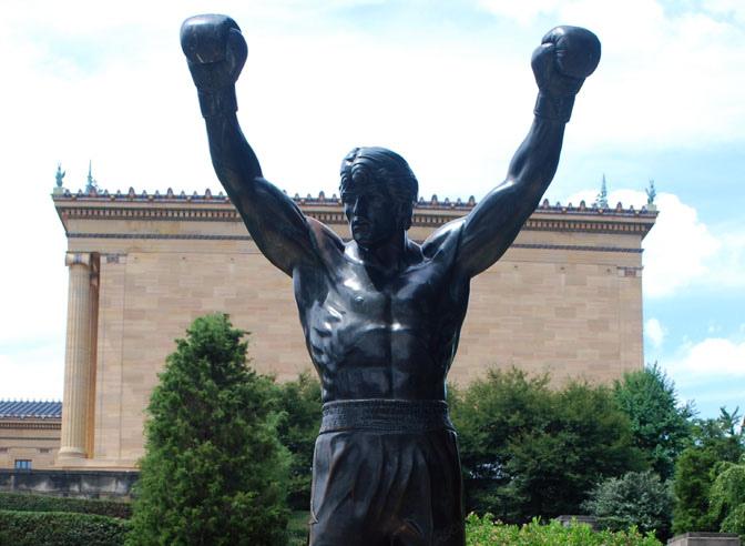 Statua di Rocky Balboa a Philadelphia. Fonte Flickr