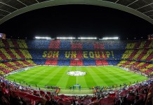 Camp Nou, stadio del Barcellona, Barca, fonte By Ayman.antar7 - Own work, CC BY-SA 4.0, https://commons.wikimedia.org/w/index.php?curid=45317270