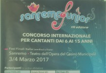 Locandina Sanremo Junior fonte Ivana Di Giacomo