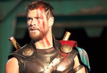 Chris Hemsworth in Thor Ragnarok, fonte Walt Disney Studios Motion Pictures