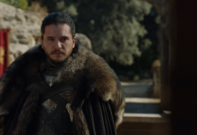 Kit Harington (Jon Snow) in The Dragon and The Wolf, fonte screenshot youtube
