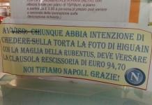 La clausola di rescissione sulla torta di Higuain in un bar a Roccamonfina (Caserta)