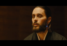 Jared Leto vestirà i panni di Hugh Hefner (in alto lo si vede in Blade Runner 2049), fonte screenshot youtube