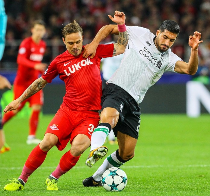 Emre Can, centrocampista del Liverpool, fonte By Дмитрий Садовников - soccer.ru, CC BY-SA 3.0, https://commons.wikimedia.org/w/index.php?curid=62799790
