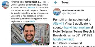 I tweet pro Salvini
