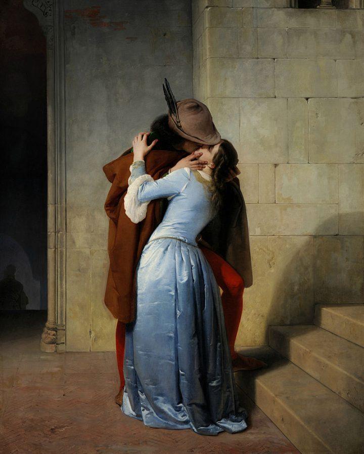 Francesco Hayez, Il bacio, 1859, Pinacoteca di Brera, Milano. Fonte: Wikipedia