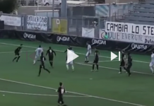Zaniolo in gol con la Virtus Entella, fonte screeshot Youtube