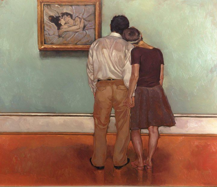 oseph Lorusso, Gli amanti e Lautrec, fine Novecento. Fonte: Frammentirivista.it
