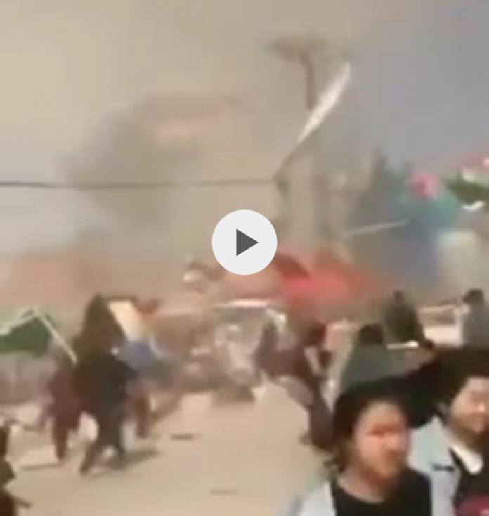 Tornado su parco divertimenti