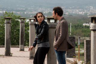 """Set di """"Gomorra 4"""", regia di Francesca Comencini. Nella foto Cristiana Dell'Anna e Luciano Giugliano. Foto di Gianni Fiorito"""