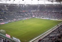 Borussia Park, stadio Borussia Mönchengladbach By Sascha Brück - Uploaded by the photographer, CC BY-SA 3.0, https://commons.wikimedia.org/w/index.php?curid=179904