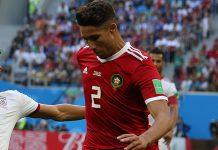 Hakimi con la maglia della nazionale marocchina, fonte Wikimedia Commons