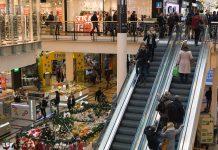 Modello Merkel, Assembramenti nei negozi