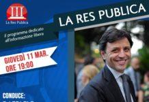 Ciro Bonajuto, Sindaco di Ercolano, ospite de 'La Res Publica' giovedì 11 marzo 2021