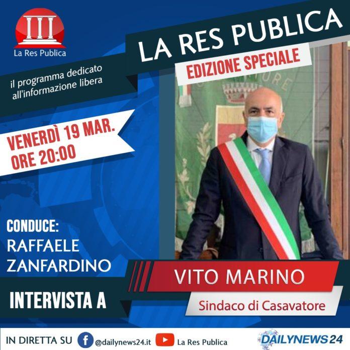 Speciale Casavatore, il Sindaco Marino ospite de 'La Res Publica' il 19 marzo 2021